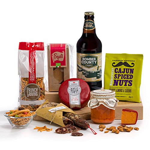 Hot and Spicy Beer Cheese & Nibbles Hamper for men - FREE UK Delivery
