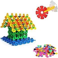 iDream 100pcs 3.2cm Multicolour Interlocking Snowflakes Model Building Block Creative Educational Toy for Kids