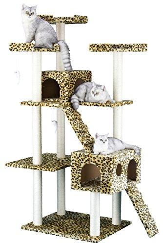 Go Pet Club Katzenkratzbaum mit Leoparden-Print (Condo Pet-möbel Scratcher)