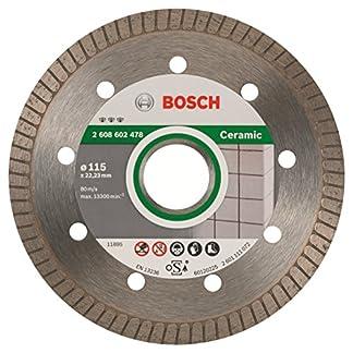 Bosch Professional – Disco de corte de diamante Best for Ceramic Extra-Clean Turbo, 115 x 22.23 x 1.4 x 7 mm