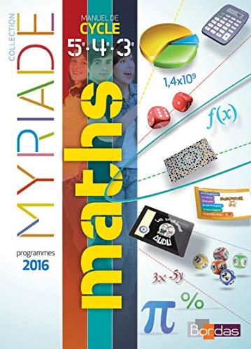 Myriade Cycle 4 - Livre d'exercices de l'élève - Nouveau programme 2016