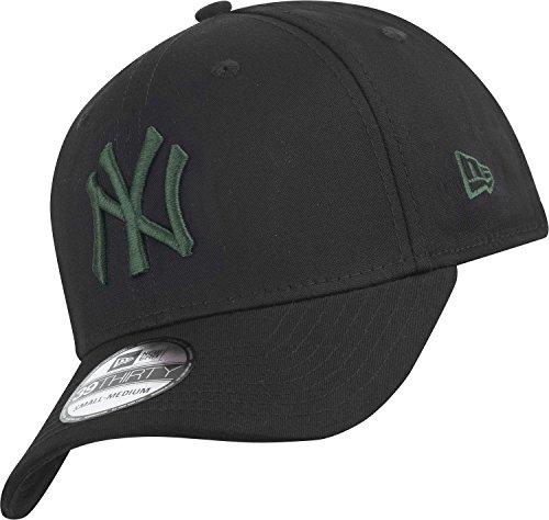 New Era Black Base Neyyan Blkrig - Cappello Linea New York Yankees da Uomo, colore Nero, taglia M-L