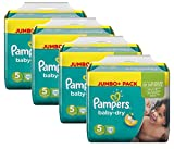 Pampers Baby Dry Größe 5 Junior 11-25kg Jumbo Plus Pack (4 x 72 Windeln)