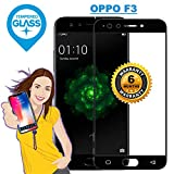 OPPO F3 BLACK - Tempered Glass Screen Protector Guard With Installation Kit & Warranty