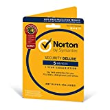 Image of Norton Security Deluxe 2019 | 5 Devices + Utilities| 1 Year | Antivirus Included | PC/Mac/iOS/Android | Activation Code by Post