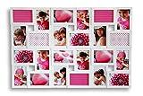 levandeo XXL Bilderrahmen Weiß für 24 Fotos 10x15 cm - trendige Fotogalerie Fotocollage Fotorahmen Galerie Collage