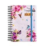 2018-2019 diary One Day to Page A5 Spiral Mid Year Student/Teacher Diary With Full Page of Saturday & Sunday by Arpan (Vintage birds)
