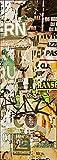 Sticker Porte Déco Tag Graffiti - SAPP0082 (63x204cm)