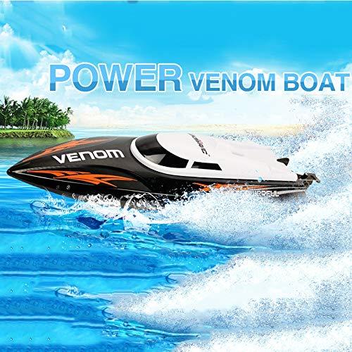 Ledu 2.4G Fernbedienung Boot Sommer-Speedboot-SWatchoot Spielzeug nautische Modell Boy-Wettbewerb, geeignet für Sommer Beach Teich (Boy Badewanne Spielzeug)