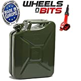 NEW HIGH QUALITY METAL POWER COATED INSIDE AN OUT JERRY CAN 20L LITRE CAN WITH SPOUT