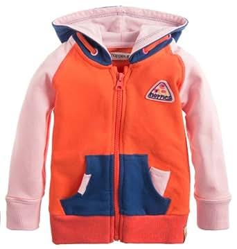 Noppies Baby - Mädchen Weste 35461-G Cardigan sweat Block, Gr. 110, Rot (coral)