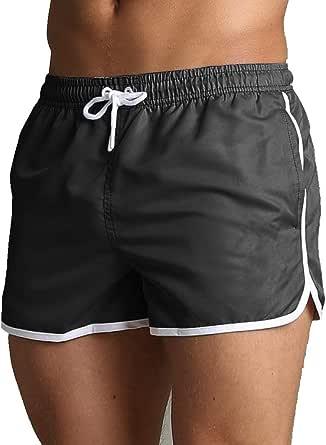 SKT Quick Dry Mens Swimming Shorts Swim Trunks with Mesh Lining Summer Board Short