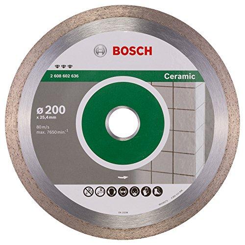Bosch Professional Diamanttrennscheibe Best für Ceramic, 200 x 25,40 x 2,2 x 10 mm, 2608602636 -