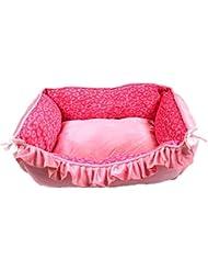 OOFWY Nido pequeña mascota perro de la impresión del animal doméstico del invierno cama caliente del animal doméstico del animal doméstico del gato , pink
