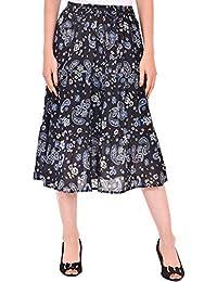 79faa72b6d COTTON BREEZE Women's Viscose A-Line Skirt (FP559 _Multicolor_ Free Size)