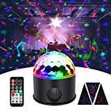 KINGSO Discokugel 9 Farbe Mini Bluetooth Musik LED Party Licht Bunte...