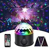 KINGSO Discokugel 9 Farbe Mini Bluetooth Musik LED Party Licht Bunte Lichteffekte Licht Bühnenbeleuchtung Kristall Magic Ball mit Fernbedienung für Disco Geburtstag party Kindergeburtstag Geschenk