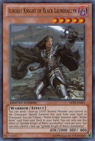 Yu-Gi-Oh! - Ignoble Knight of Black Laundsallyn (ABYR-ENSP1) - Abyss Rising - Limited Edition - Ultra Rare by Yu-Gi-Oh!