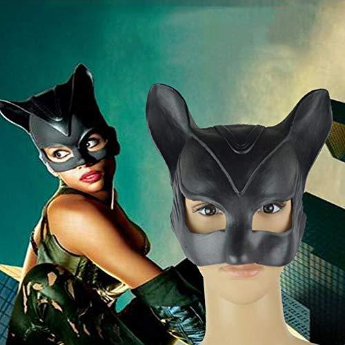 Catwoman Kostüm Halloween Geist - SAILORMJY Maske Halloween, Cosplay Maske Halloween Schwarze Katze Dämon Kopfbedeckung Batman Maske halbes Gesicht Catwoman Maske Cosplay lustige Maske