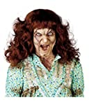 Horror-Shop Braune Zombie-Exorzist Perücke