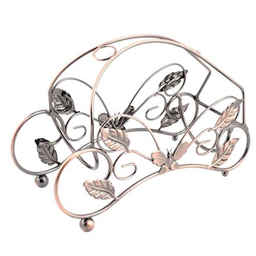 sourcingmap® Haus Küche Metall Schmetterling Dekor Wein Tasse Rack Bildschirm Halter Kupfer