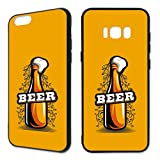 Premium Handyhülle 'Bier' für Apple iPhone - Silikon | Beer | Life, Handymodell:Apple iPhone 8, Hüllendesign:Design 2 | Silikon Schwarz