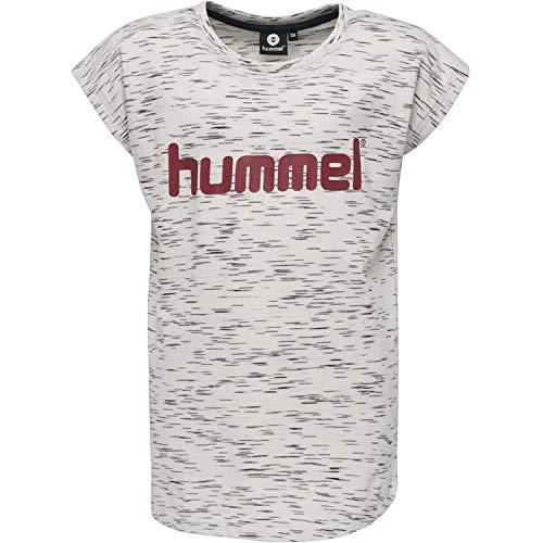 Hummel Mädchen HMLLIMBA S/S T-Shirt, Whisper White Melange, 152