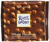 Ritter Sport Whole Hazelnuts 100 g (Pack of 5)