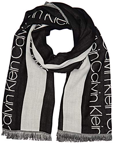 Calvin Klein Damen Schal CALVIN RACE BIG SCARF Schwarz (Black 001) One Size (Herstellergröße: OS)
