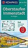 KOMPASS Wanderkarte Oberstaufen, Immenstadt im Allgäu: 3in1 Wanderkarte 1:25000 mit Aktiv Guide inklusive Karte zur offline Verwendung in der ... 1:25 000 (KOMPASS-Wanderkarten, Band 2) -