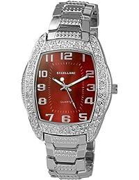 Excellanc 280527000005 - Reloj analógico de caballero de cuarzo con correa de aleación plateada