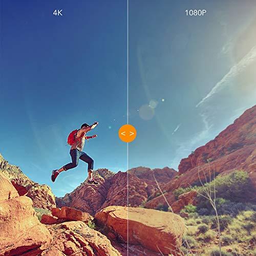 APEMAN Action Cam 4K WiFi 20MP Fotocamera Subacquea Digitale Impermeabile 40M Gyro Stabilizzazione Videocamera 170° Grandangolare Due Batterie 20 Accessori all'Interno con Custodia per Trasporto