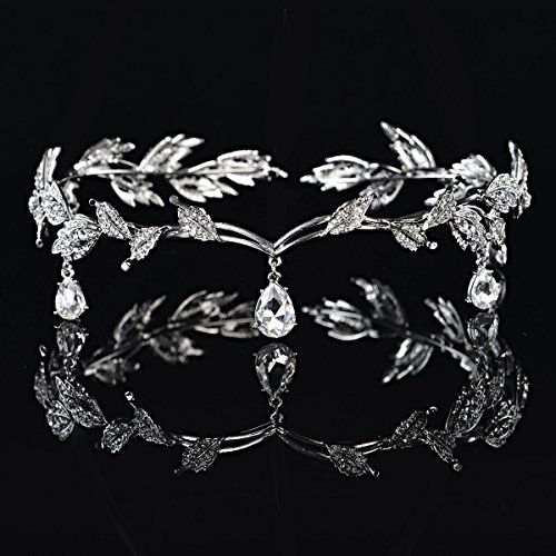 Pixnor Strass Crystal Bridal Tiara Hair Pin Hochzeitsparty -