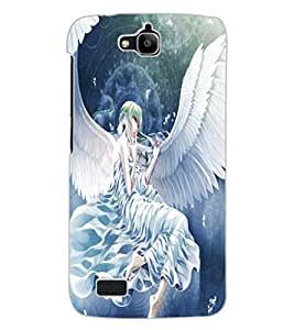ColourCraft Angel Design Back Case Cover for HUAWEI HONOR HOLLY