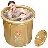 Die Faltung Dusche und Badewanne nach aufblasbare Baby Pool Home Badewanne und Duschkabine, golden, 75 * 80 cm