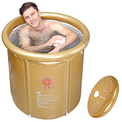 Die Faltung Dusche und Badewanne nach aufblasbare Baby Pool Home Badewanne und Duschkabine, golden, 65 * 75 cm.