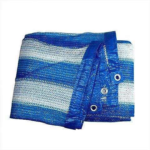 85% con cinta azul rayas blancas sol sombra bloqueador solar red de malla y arandela