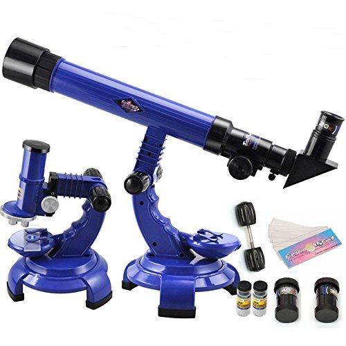 KINGDUO Telescopio Microscopio Conjunto Ciencia Naturaleza