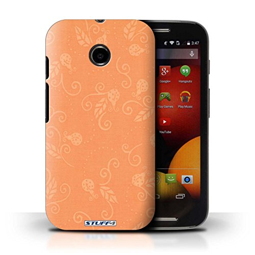 Kobalt® Imprimé Etui / Coque pour Motorola Moto E (2014) / Rose conception / Série Motif Coccinelle Pêche