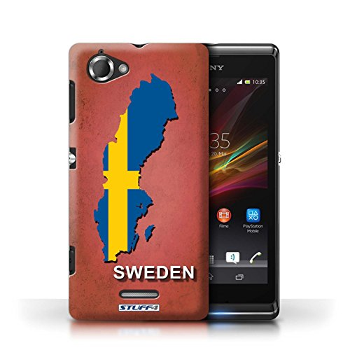 iCHOOSE Hülle / Hülle für Apple iPhone 5C / harter Plastikfall für Telefon / Collection Flagge Land / Griechenland/Greek Schweden/Schwedisch