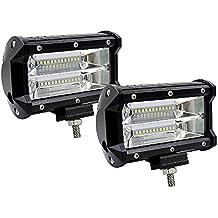 Barra de luces LED de dos filas, con 72W y 10.800 lúmenes, de 12,7 cm. Barra de luces de techo, barra de luces todoterreno modificada, barra de luces de techo para camiones, carretillas elevadoras