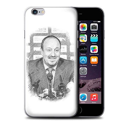 Officiel Newcastle United FC Coque / Etui pour Apple iPhone 6 / Maestro Espagnol Design / NUFC Rafa Benítez Collection Croquis