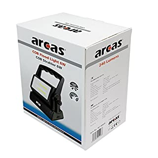 Arcas 30700039 - COB Strahler, ca. 15 x 10 x 22 cm, schwarz