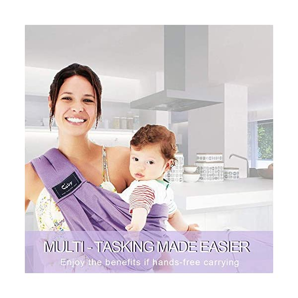 Cuby Baby Slings Carrier for Newborns and Breastfeeding (Purple) CUBY  6