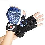 Triomphtech Power Lock–Fitness-Handschuhe, Farbe Blau, Größe L