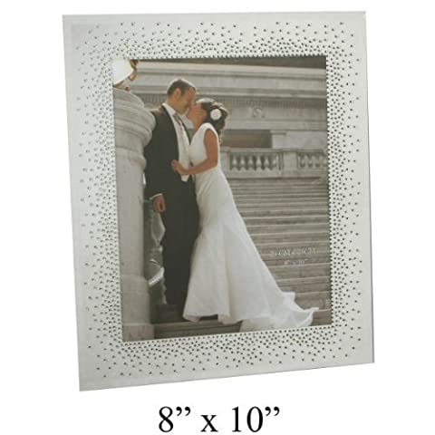 Wedding Mirror Glass Frame Starburst Crystals Design For 8x10 Pictures by Juliana