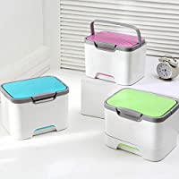 Etach medicina caja de almacenamiento con cierre multifuncional portátil de plástico caja de herramientas compartimentos píldora