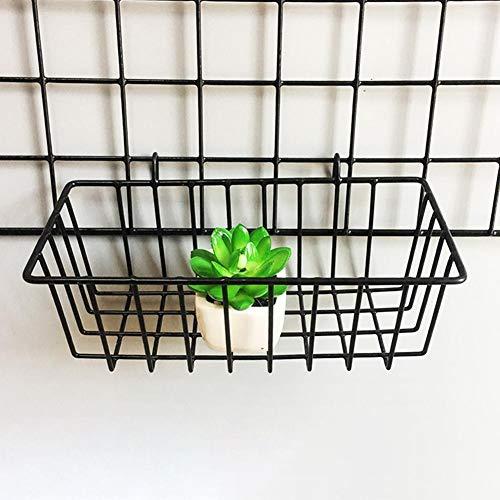 Gitter-hängender Korb-Eisen-Wand-Speicher-Kasten brachte Dekoration-innovatives Blumen-Topf-Regal-kleine Einzelteile Anzeigen-Gestell-Innenanhänger-Multifunktionsmaschen-Draht-Metallwand-Regal an -