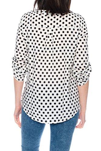 Dress Sheek Damen 3/4 Tunika Oberteil T-Shirt Top Normale und Übergrößen Große Größen Gemustert Lüftig Basic Bluse DS099