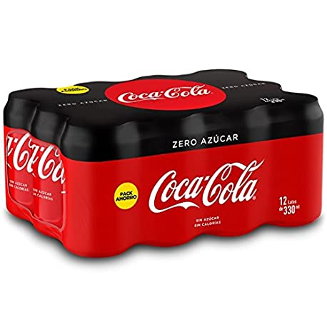 Coca Cola Zero Lata 330 ml Pack de 12